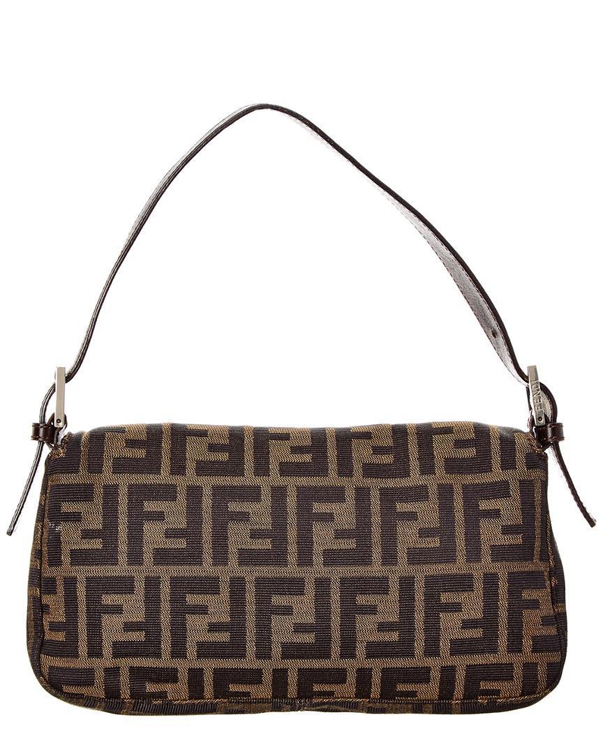 d0abccce50bc Fendi Brown Zucca Canvas Baguette Bag in Brown - Lyst