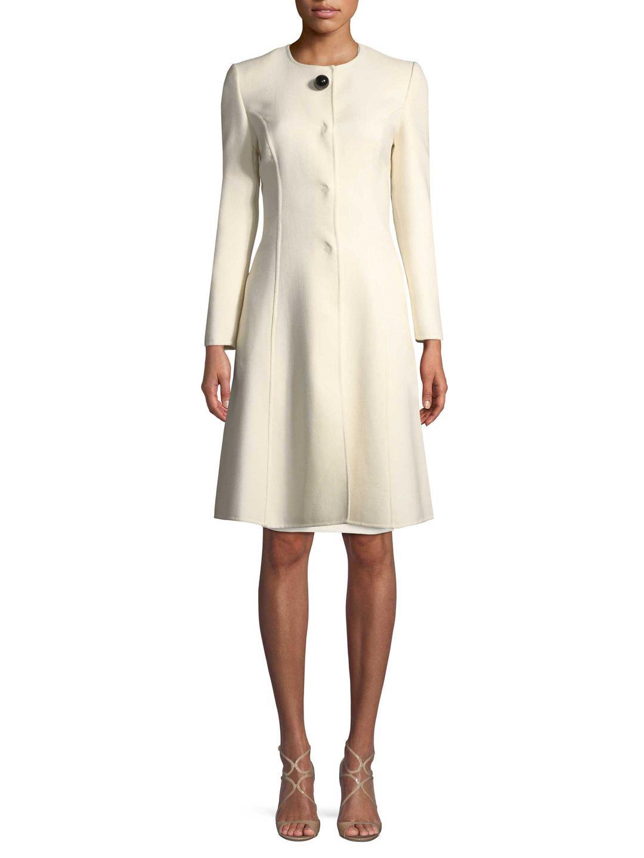 Carolina Herrera Wool-Blend Long Coat Visit For Sale A2rMRf