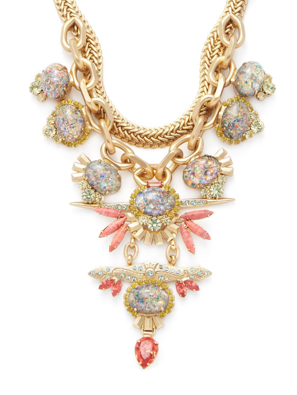 Elizabeth Cole Necklace in Metallic Gold hYvo1bebe