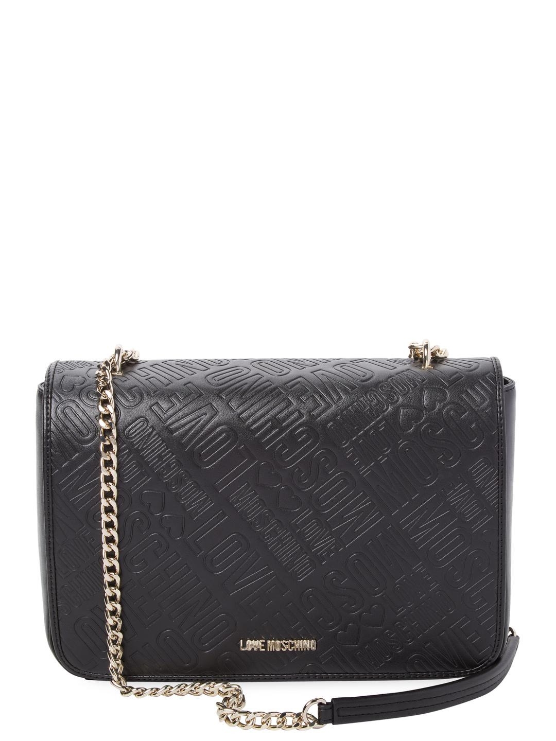 Love Moschino Logo-Embossed Faux Crossbody Bag s7F60Zol
