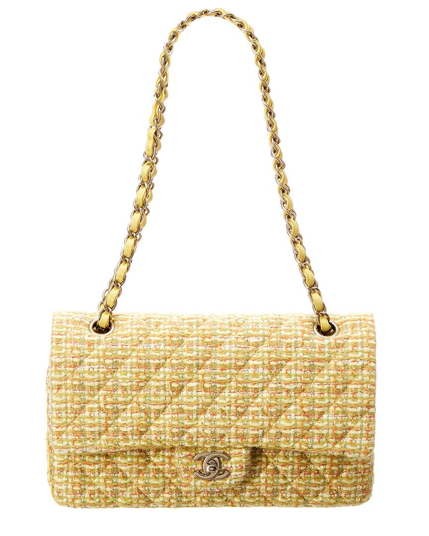 27771636bcff Chanel Limited Edition Yellow Tweed Reissue 2.55 Medium Double Flap ...