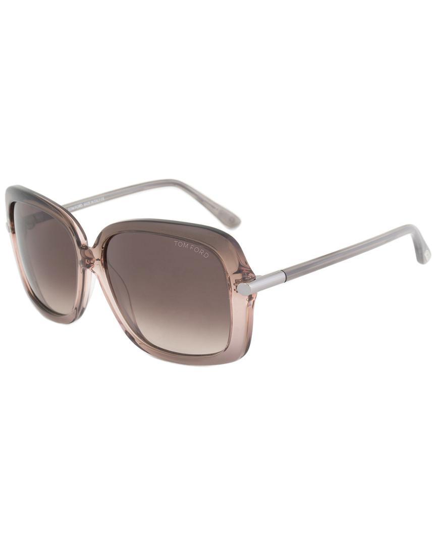 b2a5f637c8538 Lyst - Tom Ford Linda Butterfly Sunglasses Ft0324 50f 59 59mm Sunglasses