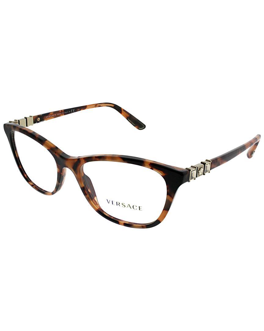 dfbd31da2787 Versace - Brown Women s Ve3213b 52mm Optical Frames - Lyst. View fullscreen