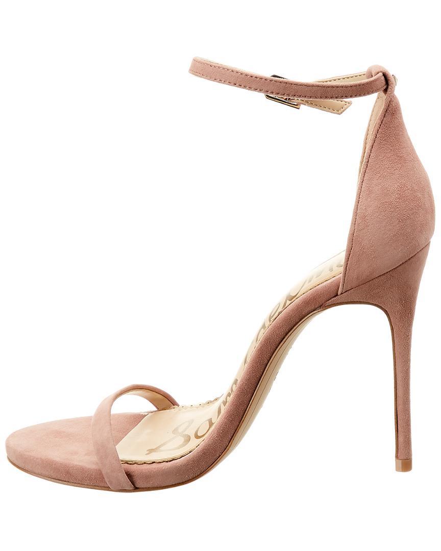 7b4cc7046 Lyst - Sam Edelman Nadya Suede Sandal in Pink