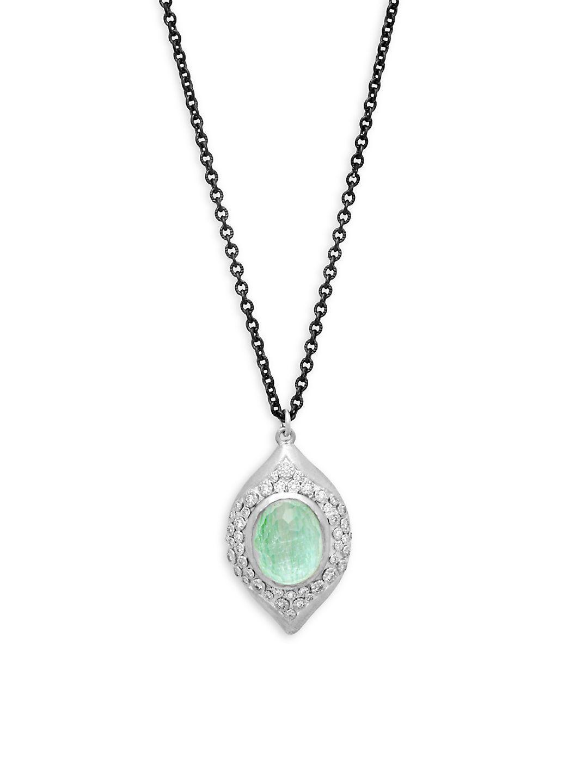 Armenta New World Diamond Cross Pendant Necklace PfLLnC