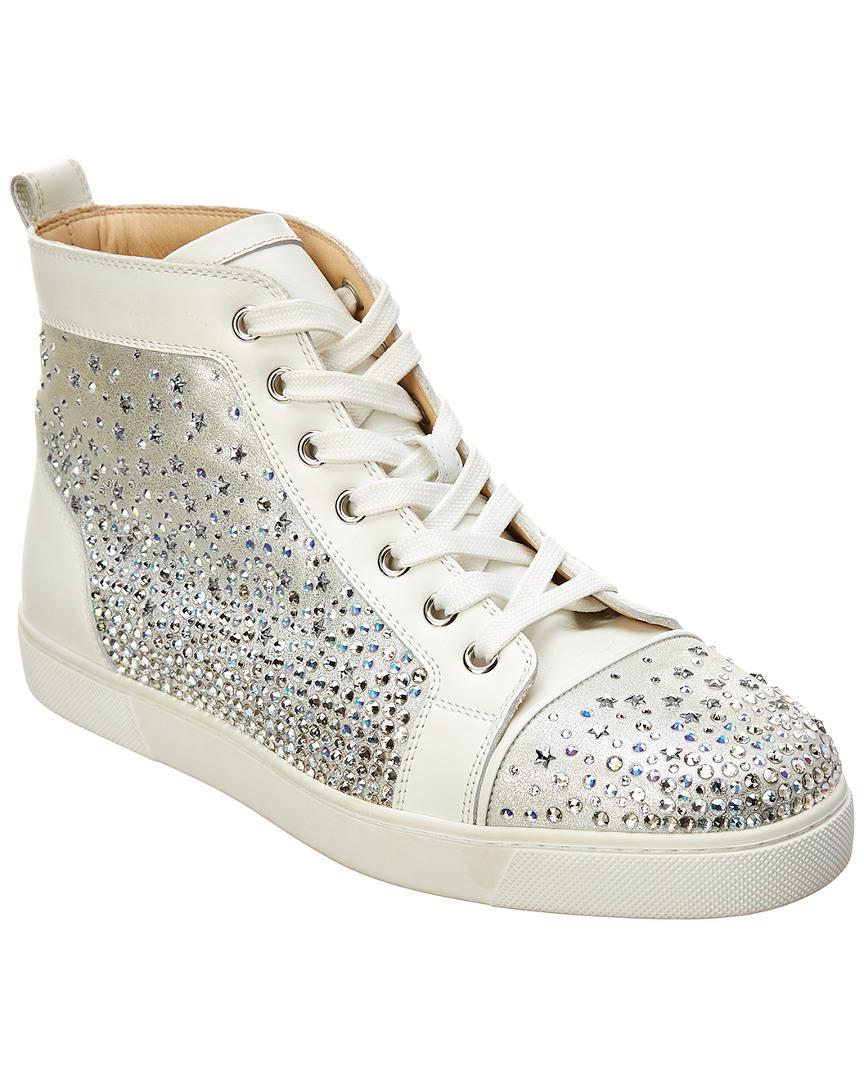 e0e09fe2a73 Christian Louboutin. Women s White Galaxtidonna Embellished Leather Sneaker
