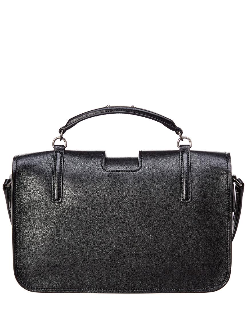 d0d514b36e Saint Laurent Large Charlotte Leather Messenger Bag in Black - Lyst