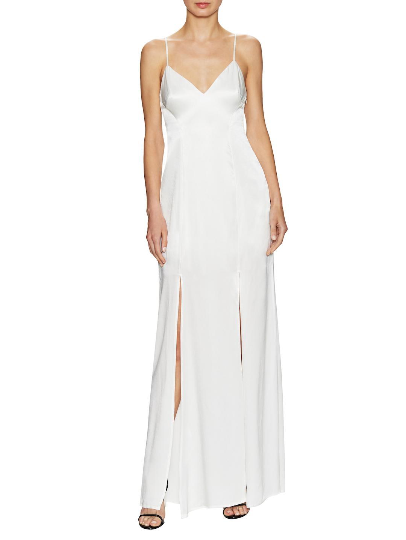 f6ba737034c7 Lyst - ABS By Allen Schwartz Car Wash Slip Gown in White