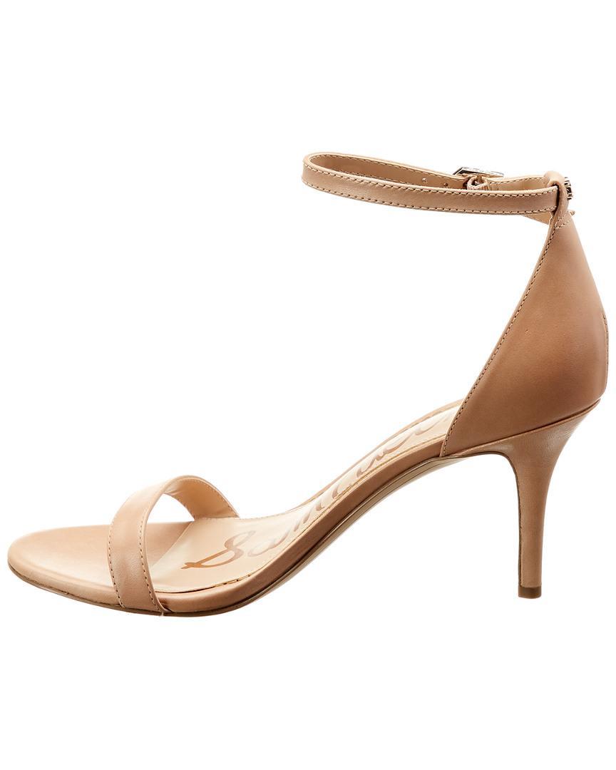 52965530041b Lyst - Sam Edelman Patti Leather Sandal in Brown