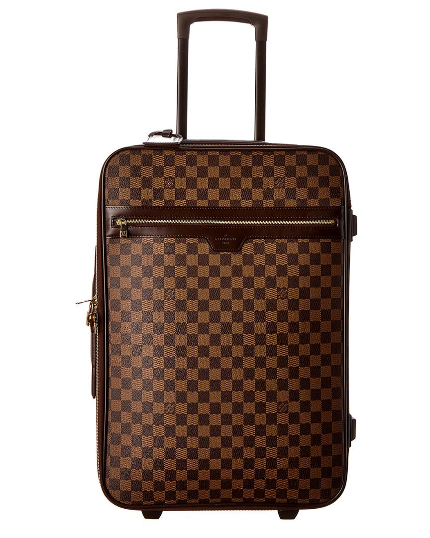 633918751 Louis Vuitton Damier Ebene Canvas Pegase 55 in Brown - Lyst