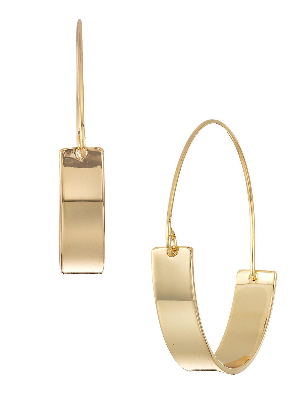 96b1c2a42 Rebecca Minkoff Thick & Thin Hoop Earrings in Metallic - Lyst