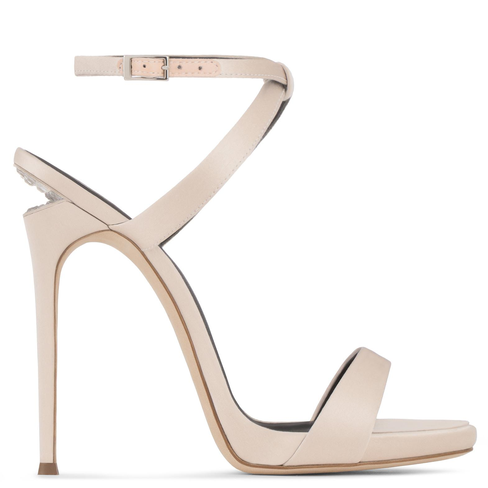 Giuseppe Zanotti Patent leather sandal with crystals and 'sculpted' heel DIONNE 12 zWd07