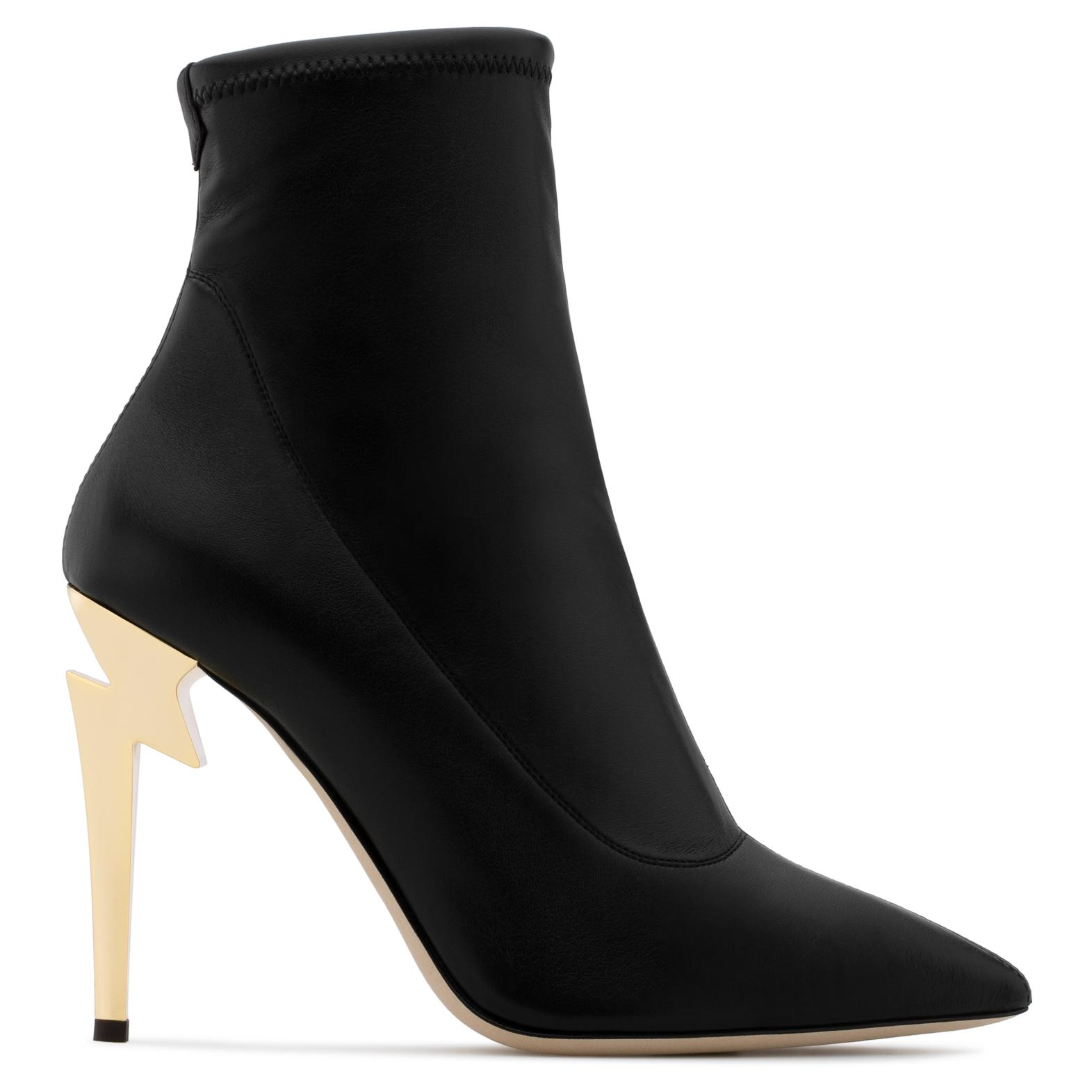 Giuseppe Zanotti Stretch leather boot with 'sculpted' heel GHIACCIO xN72aF7