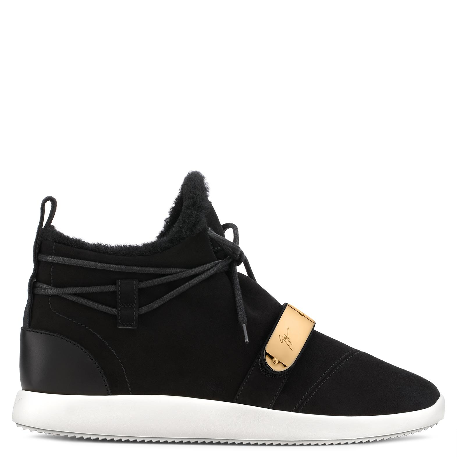 Giuseppe ZanottiSuede sneaker with faux-fur HAYDEN WINTER nKrjqCk