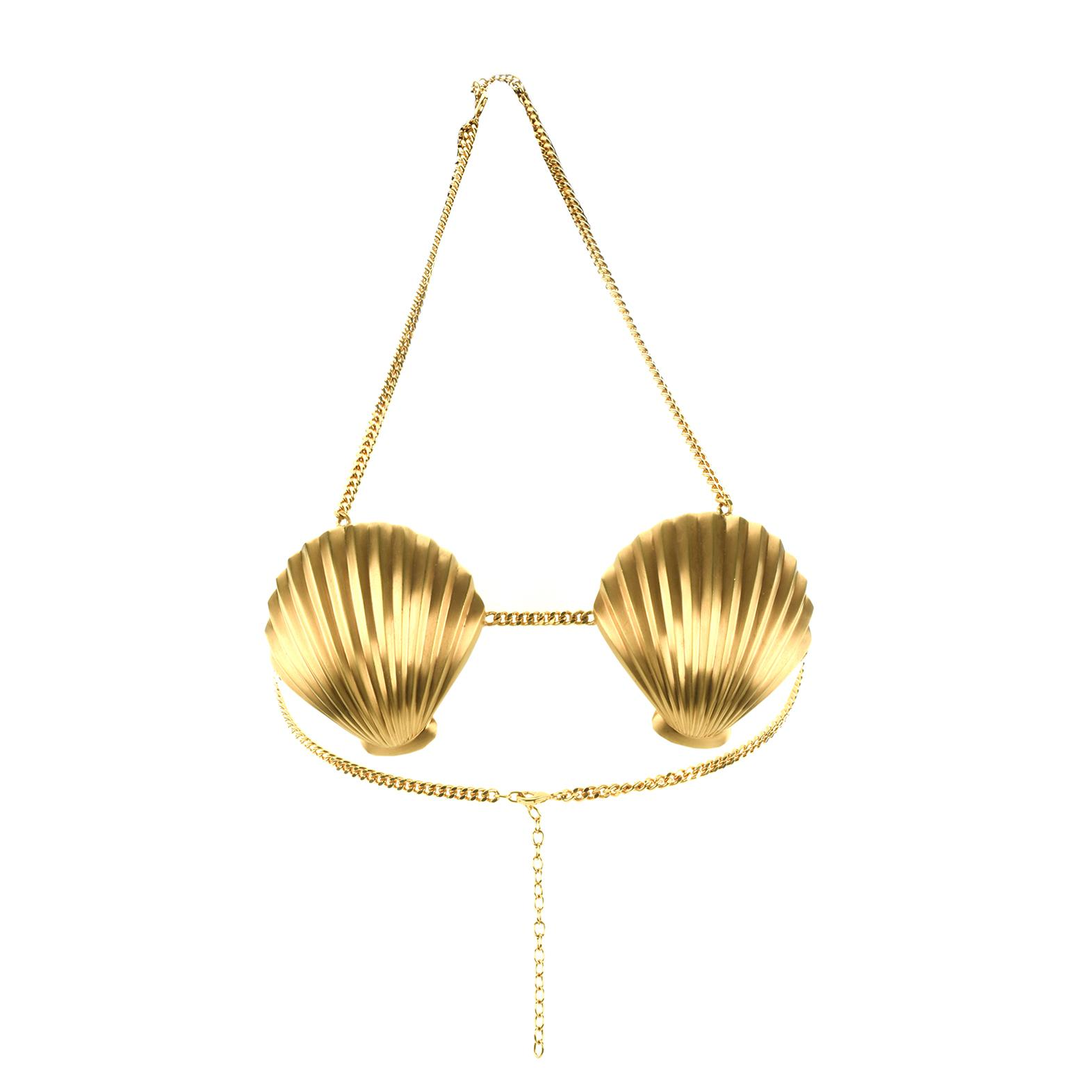 Giuseppe Zanotti Brassiere with gold shells ARIEL 0CyXrZA