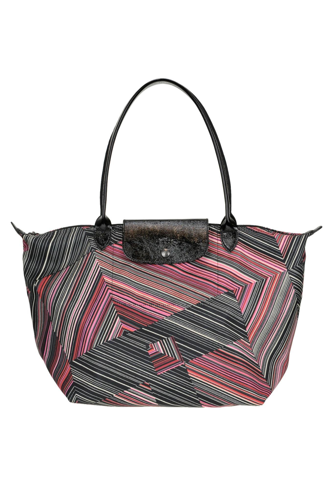 f67d527c9c0 Longchamp 'le Pliage' Optical Print Nylon Bag - Lyst