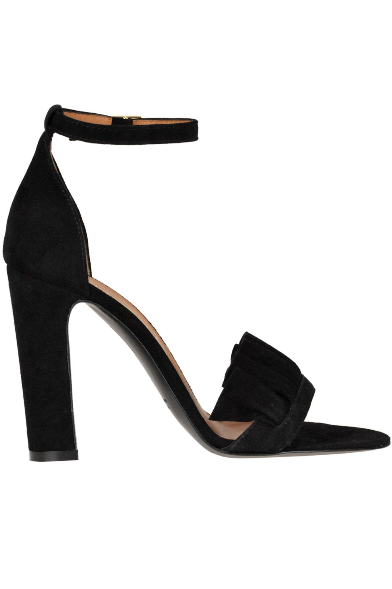 f9763363ac906 Lyst - Via Roma 15 Suede Sandals in Black - Save 21%