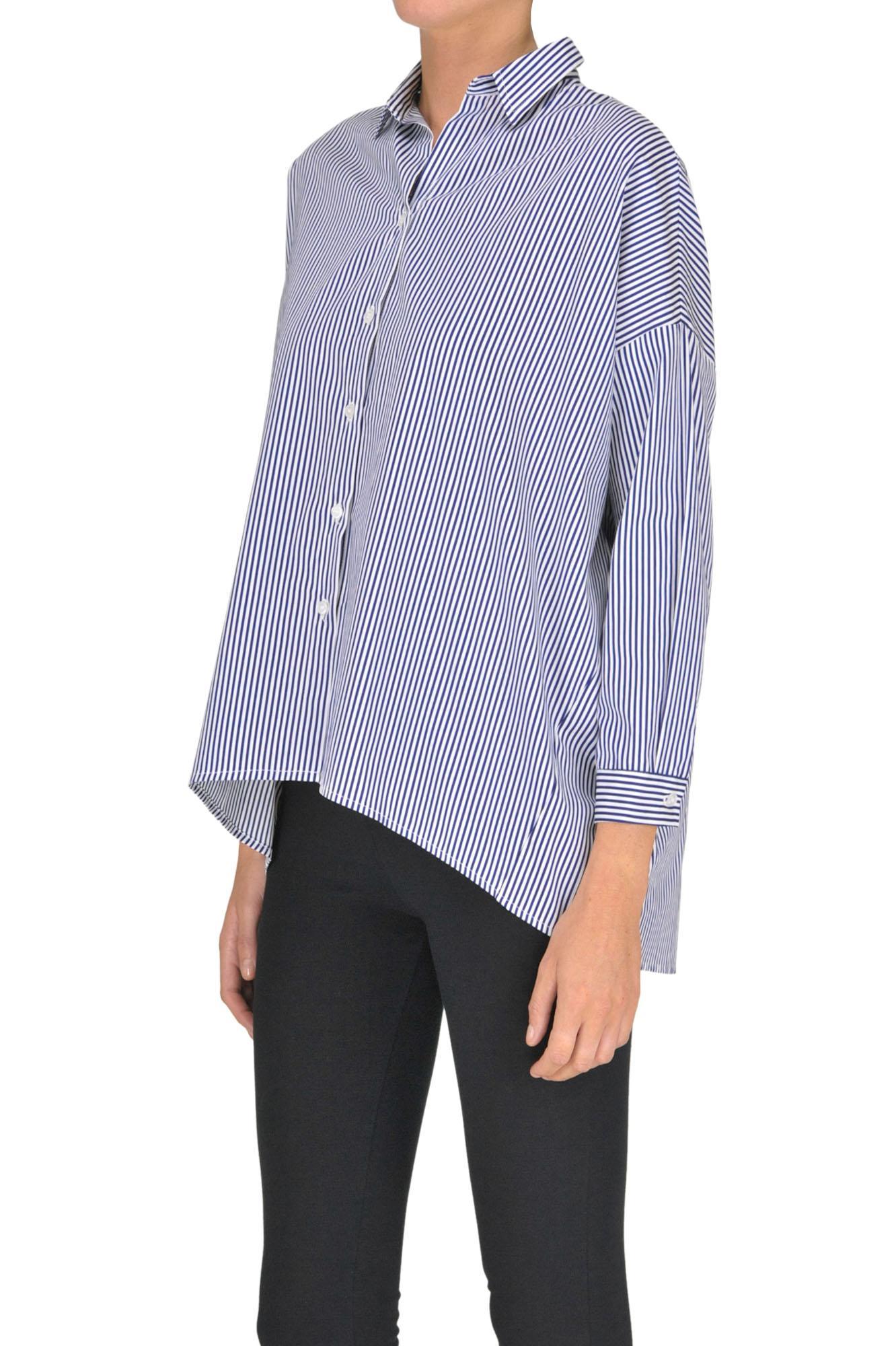 'frida' Lyst Shirt In Blue Pinko Striped eD2WH9EIY