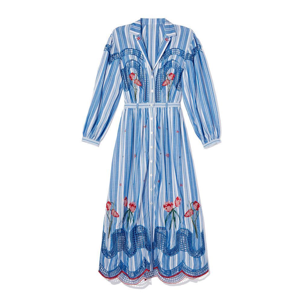 2018 Discount  Cheap Sale 2018 New Trelliage shirt dress - Blue Temperley London Discount Websites QGNAUw9UtK