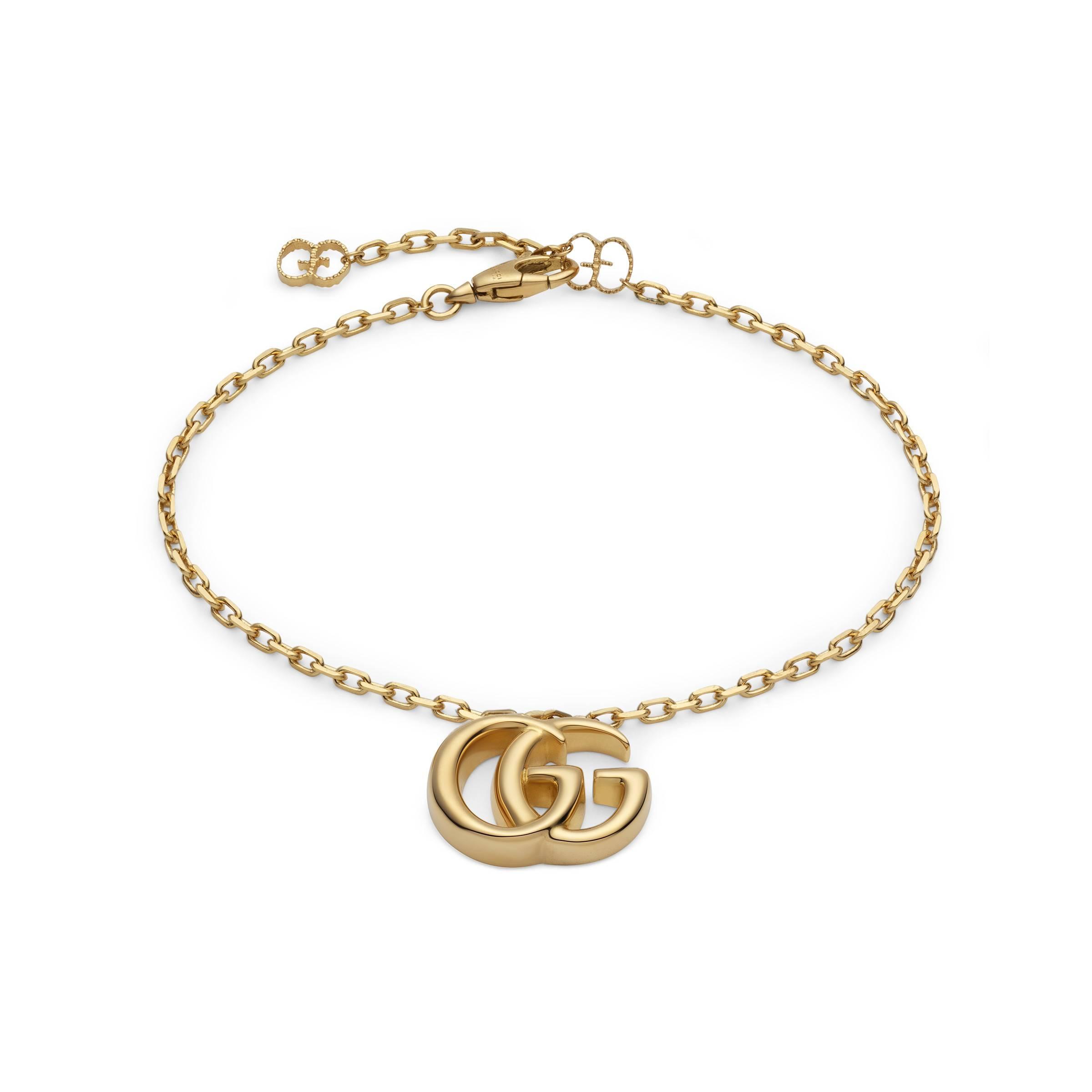 1a92a687b Gucci. Pulsera de Oro Amarillo con Doble G de mujer de color metálico