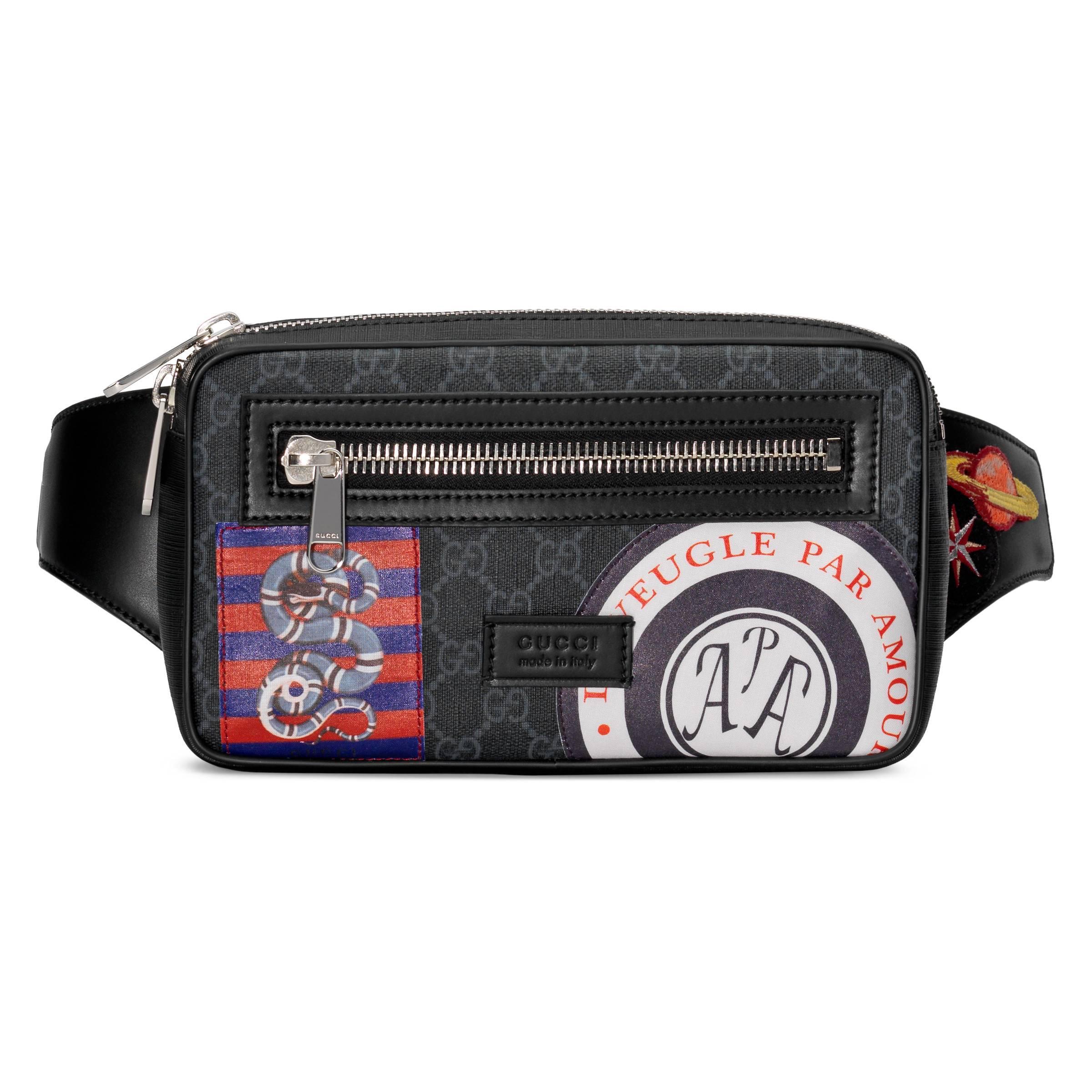 4ff171134187 Gucci. Sac ceinture Suprême GG souple avec motif Night Courrier homme de coloris  noir