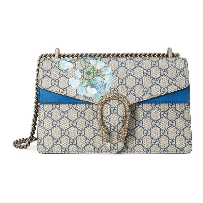 f0dbdb521b7 Lyst - Gucci Dionysus Gg Blooms Shoulder Bag in Blue