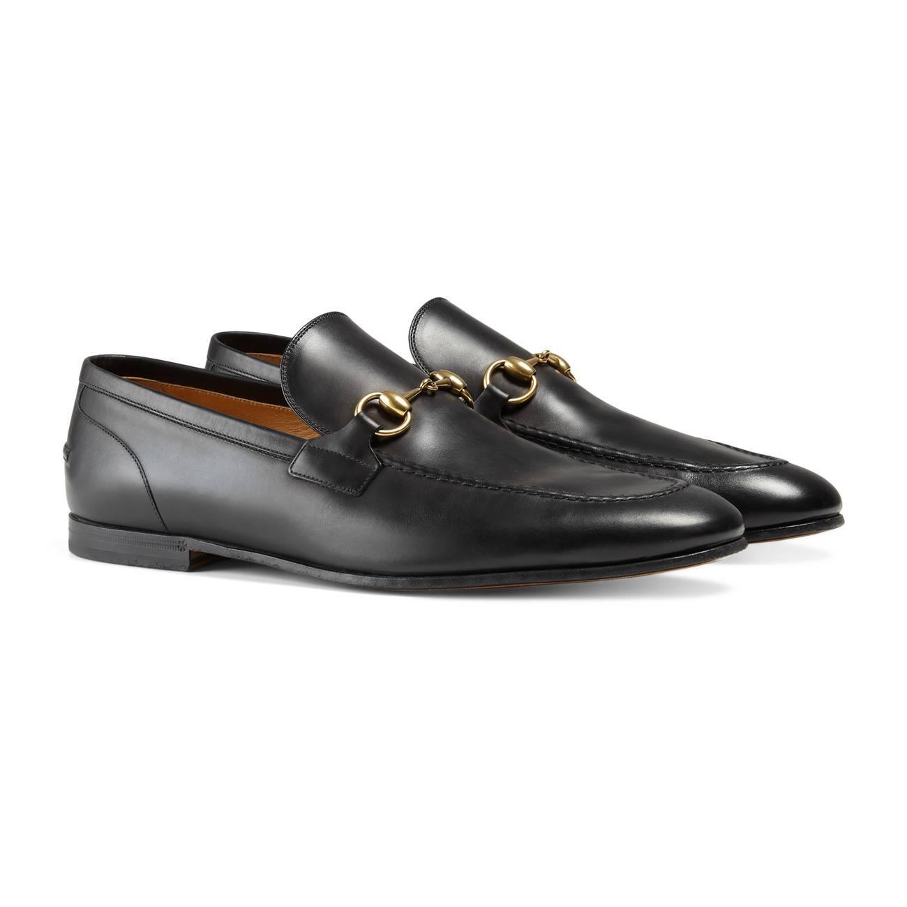 cadb3d574e8 Gucci - Black Jordaan Leather Loafer for Men - Lyst. View fullscreen