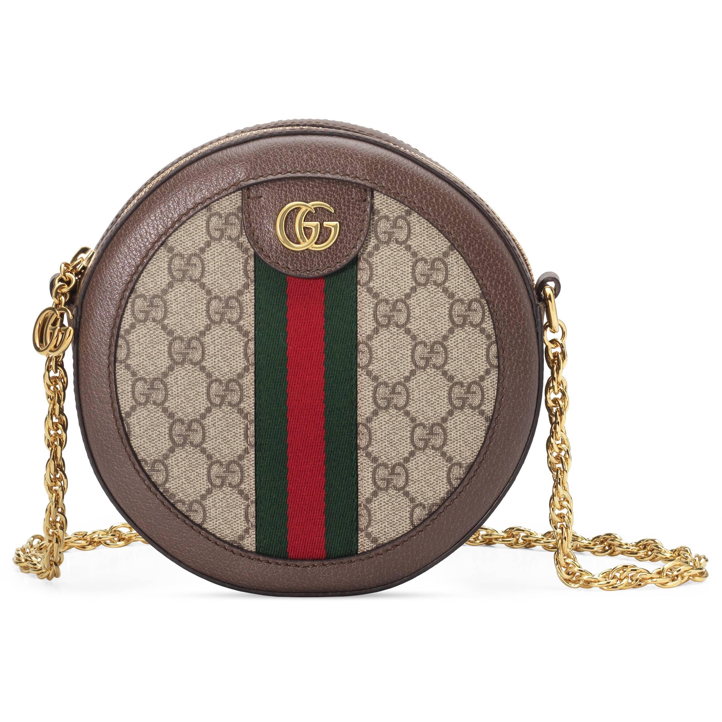 56de906b3b4182 Gucci - Natural Ophidia Mini GG Round Shoulder Bag - Lyst. View fullscreen