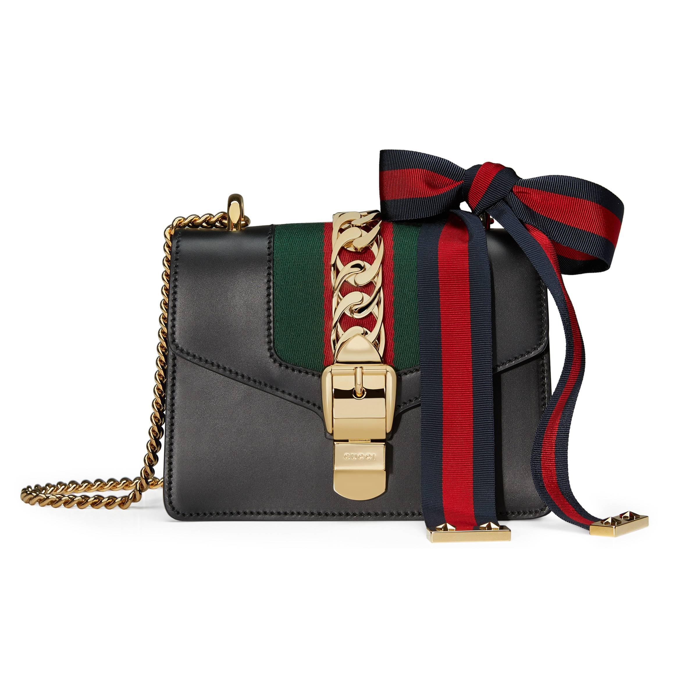05409660d2fb Gucci - Black Sylvie Mini Chain Bag - Lyst. View fullscreen