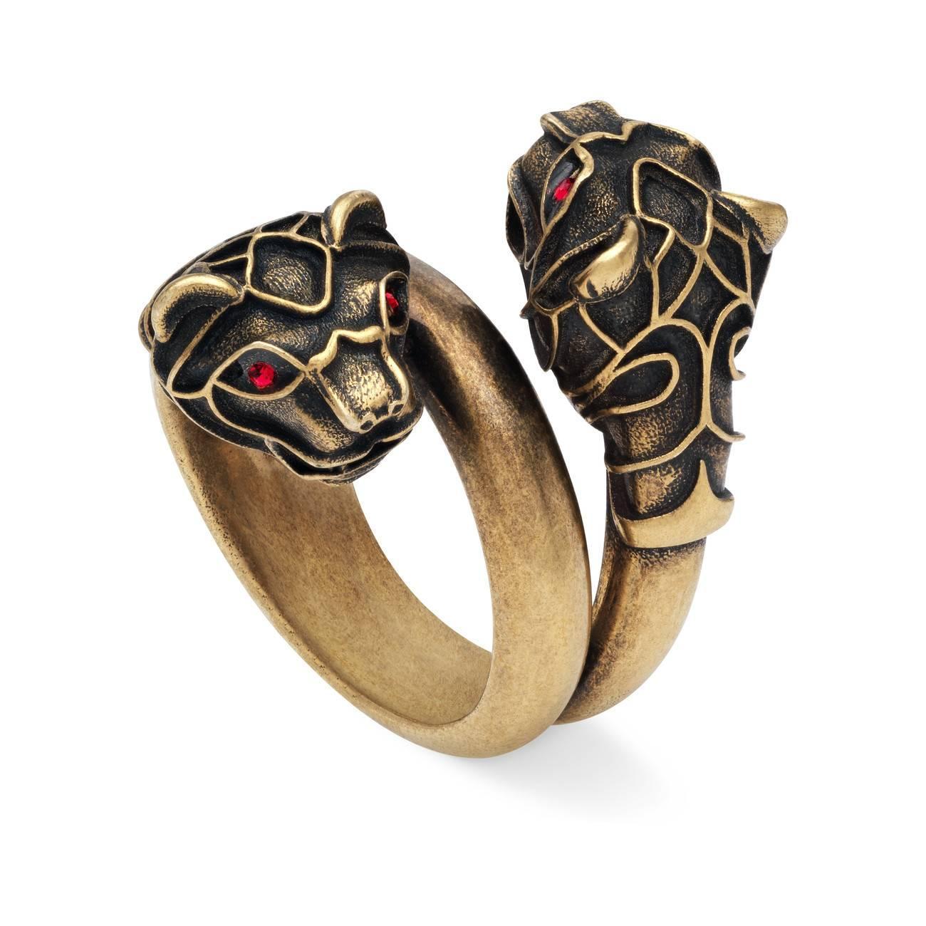 f74f68aedbb0b3 Gucci - Metallic Tiger Head Ring - Lyst. View fullscreen