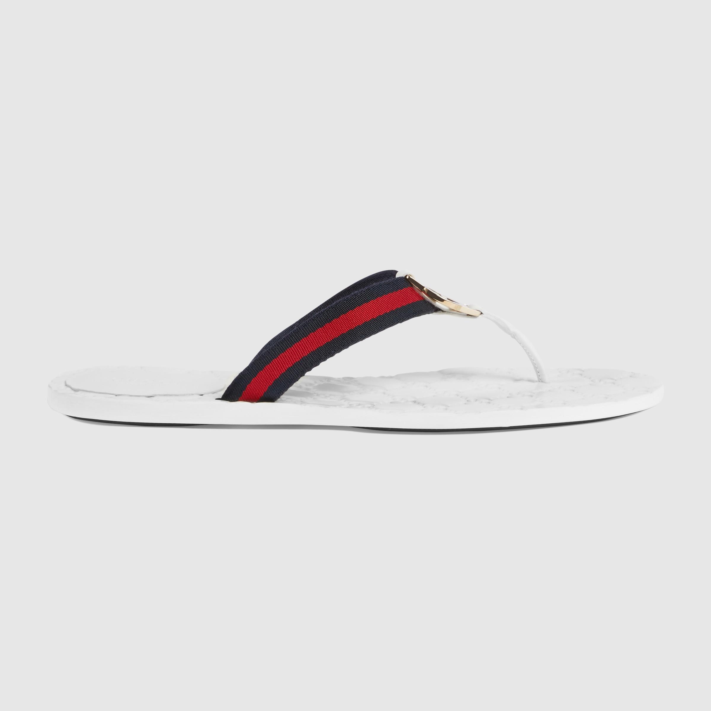 355f8c18b28 Lyst - Gucci Gg Thong Original Gg Sandal in Gray