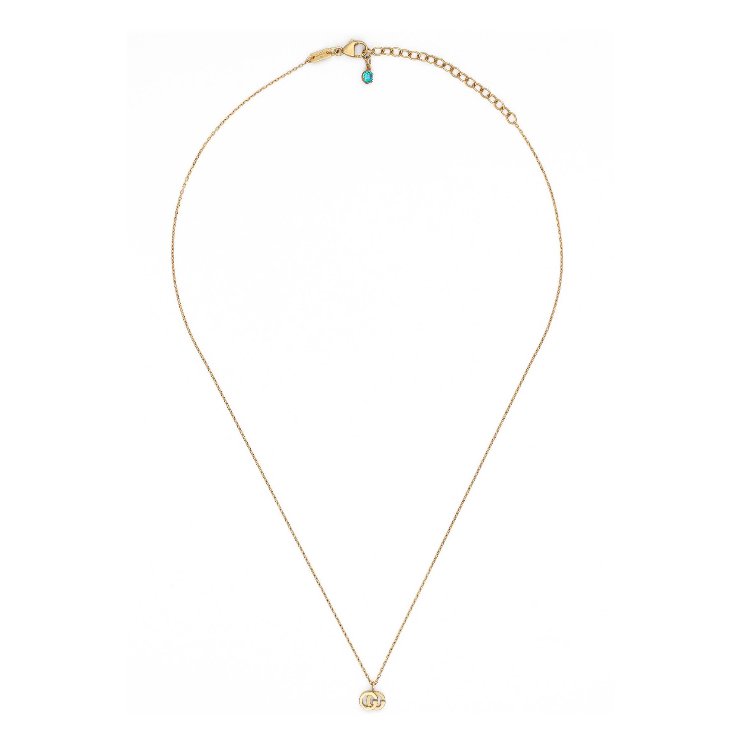 3ea27a637f3b Collar Doble G con Topacio Gucci de color Metálico - Lyst