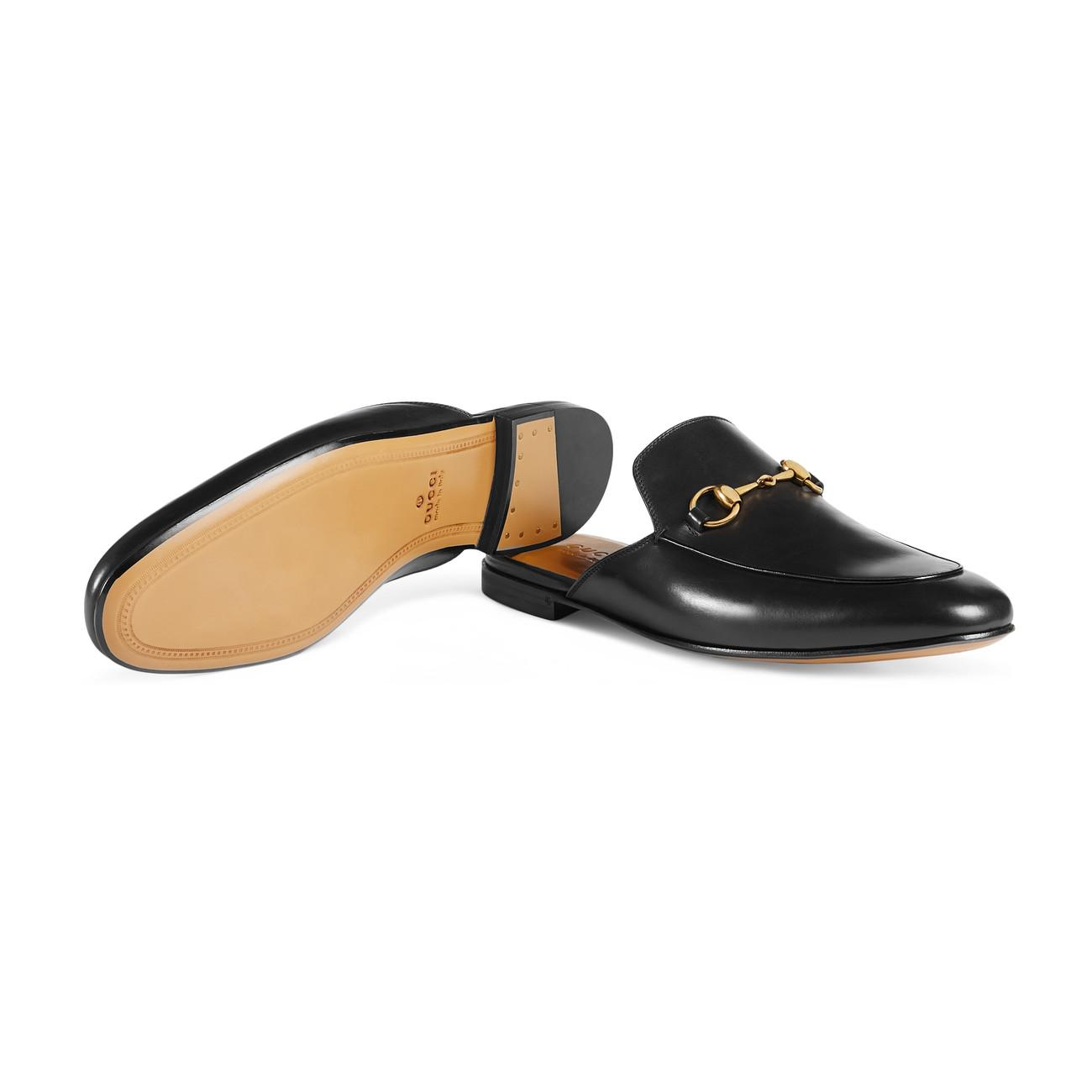 229b35ada6cd Gucci - Black Leather Horsebit Slipper for Men - Lyst. View fullscreen