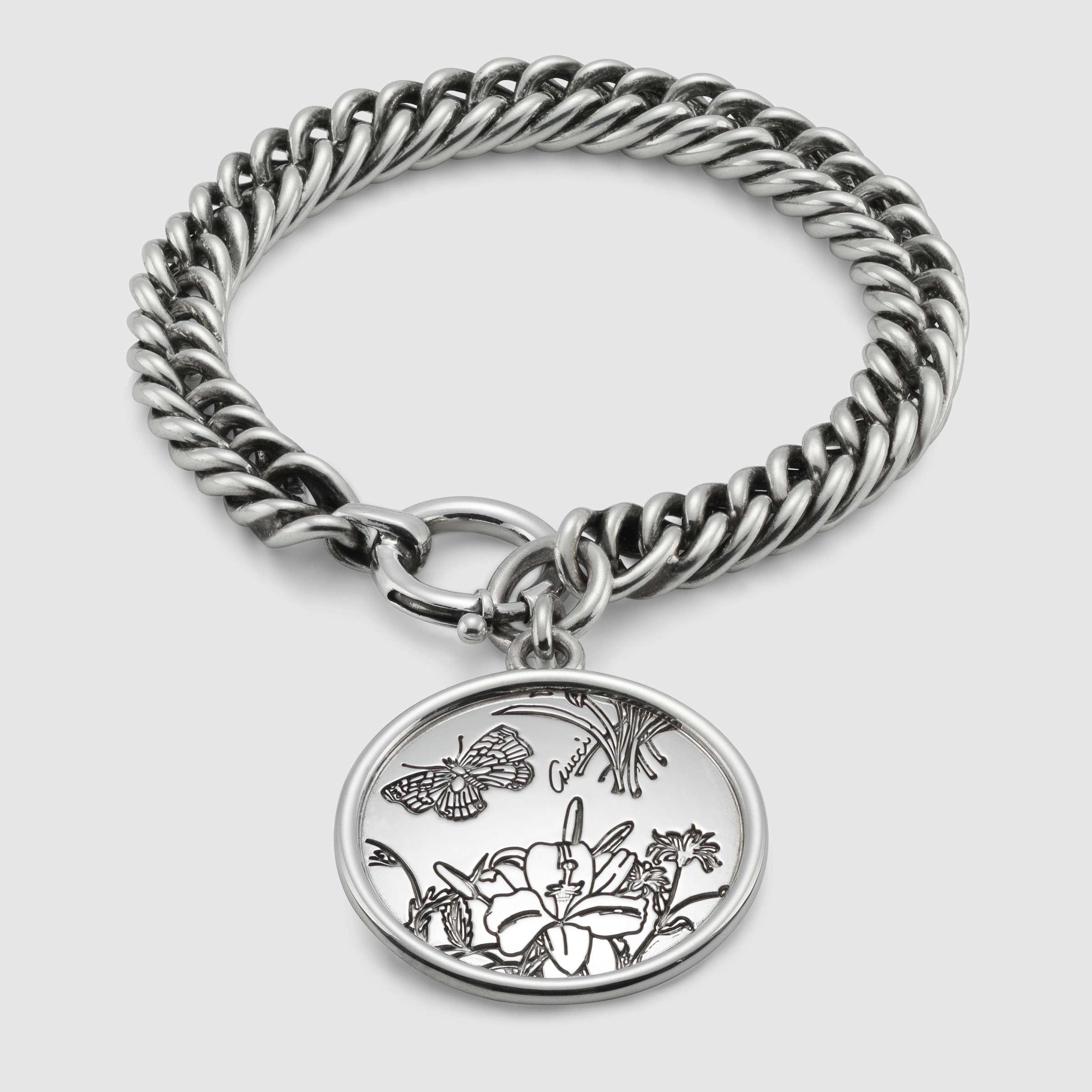 50c6a7517e2 Gallery. Lyst Gucci Flora Bracelet In Sterling Silver Metallic -  Source. Jewelry  Gucci Female ...