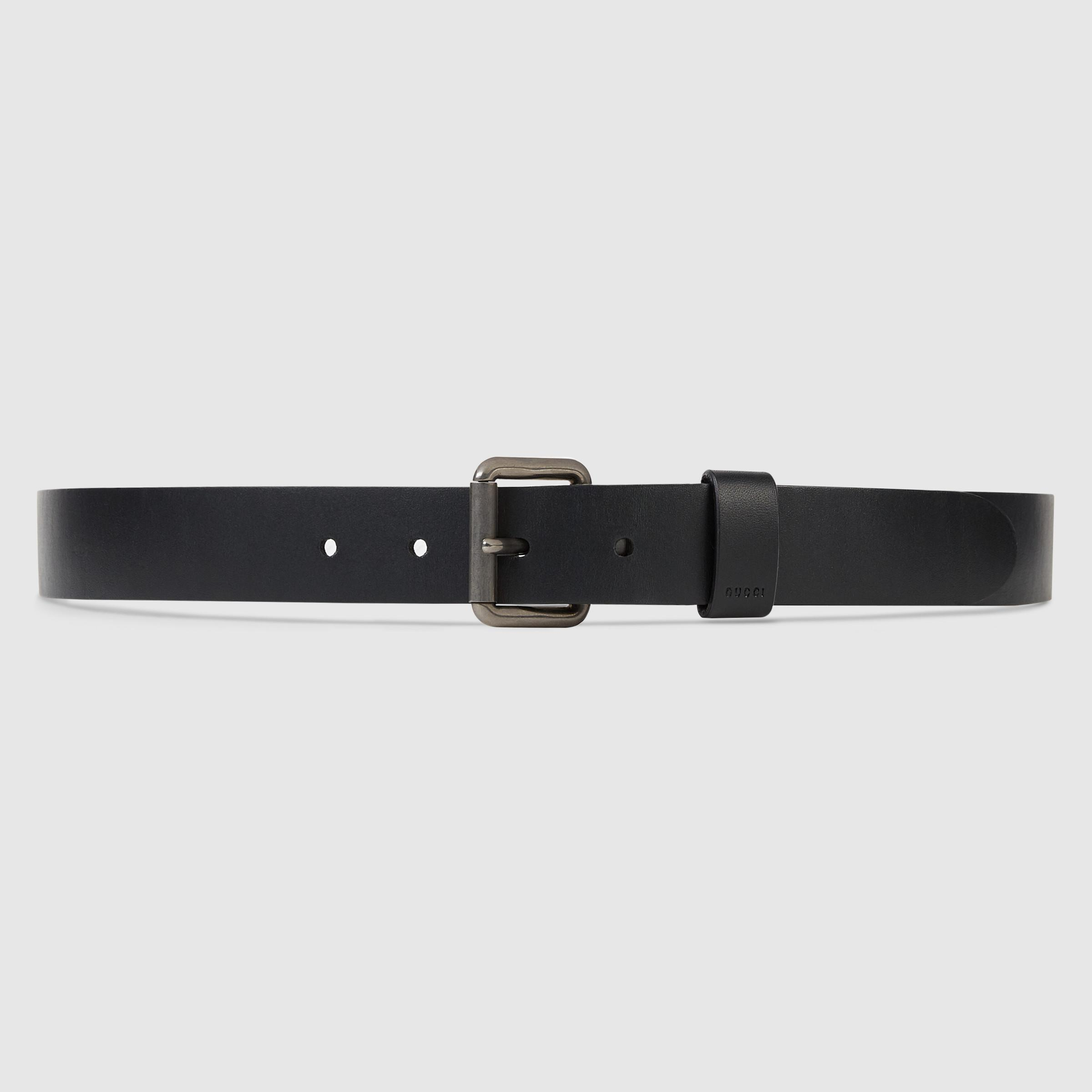 e8e217e6990 Lyst - Gucci Reversible Leather And Web Belt in Black for Men