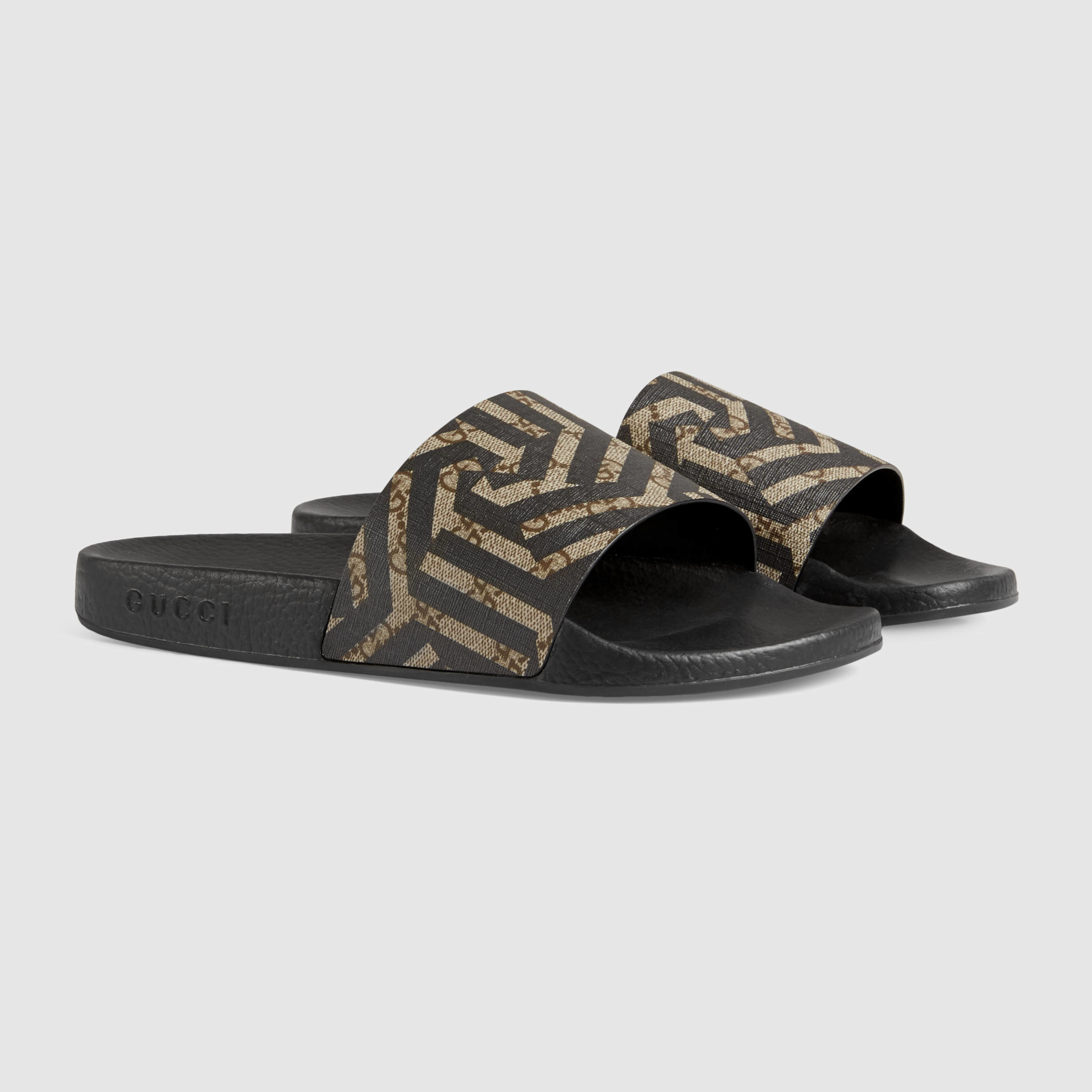 4a5bdcb0451 Gucci Gg Caleido Sandal in Black for Men - Lyst