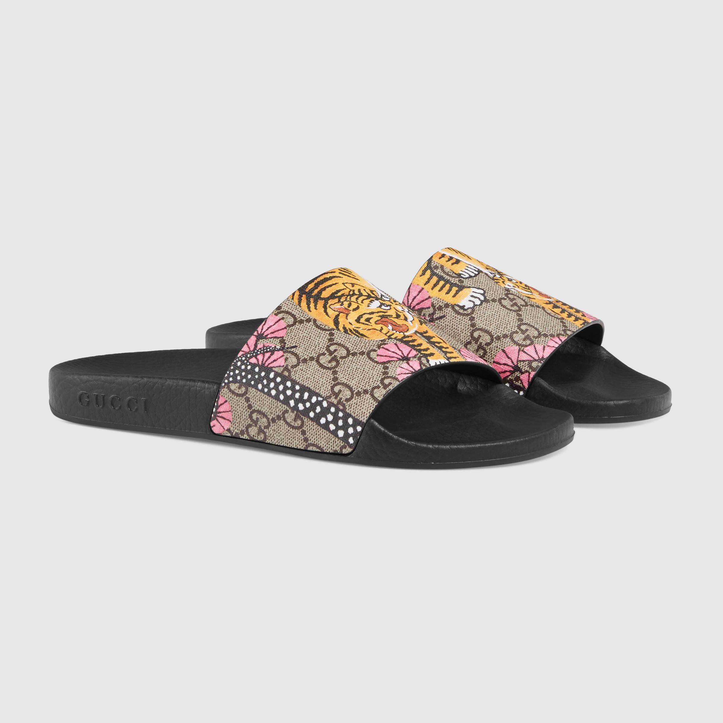 9e7f8d5ee47 Lyst - Gucci Pursuit Bengal Slide Sandal