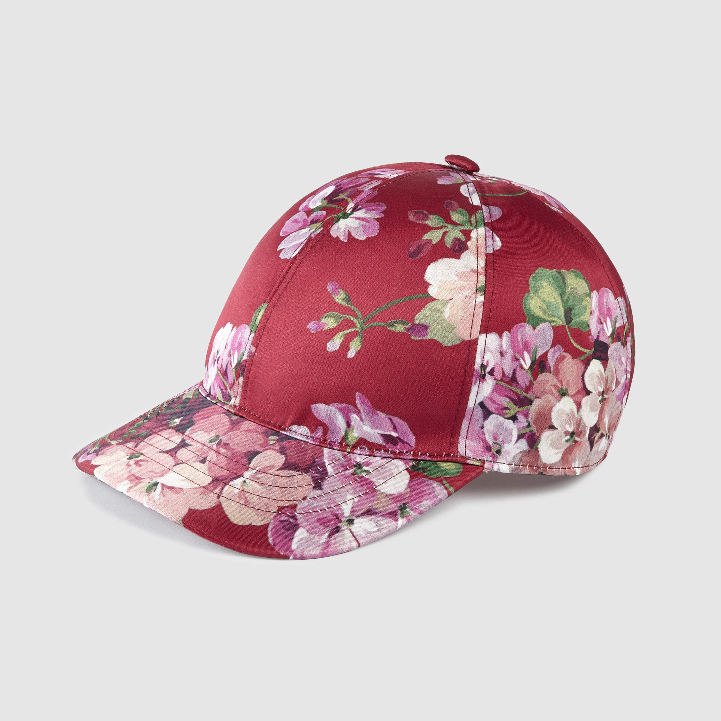 9565454221f Lyst - Gucci Blooms Silk Baseball Hat in Red for Men