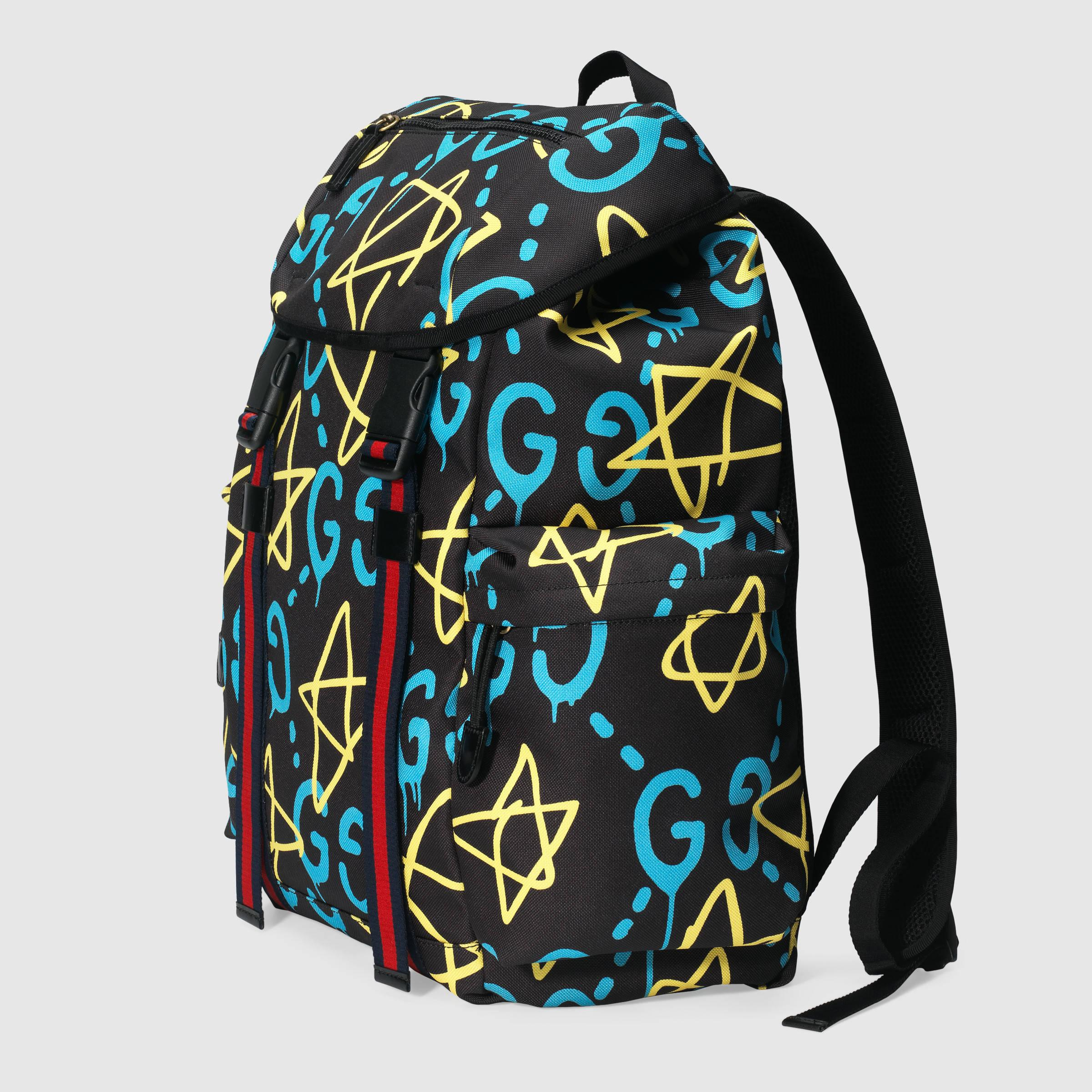 99e9df8779ba Gucci Ghost Canvas Techpack for Men - Lyst