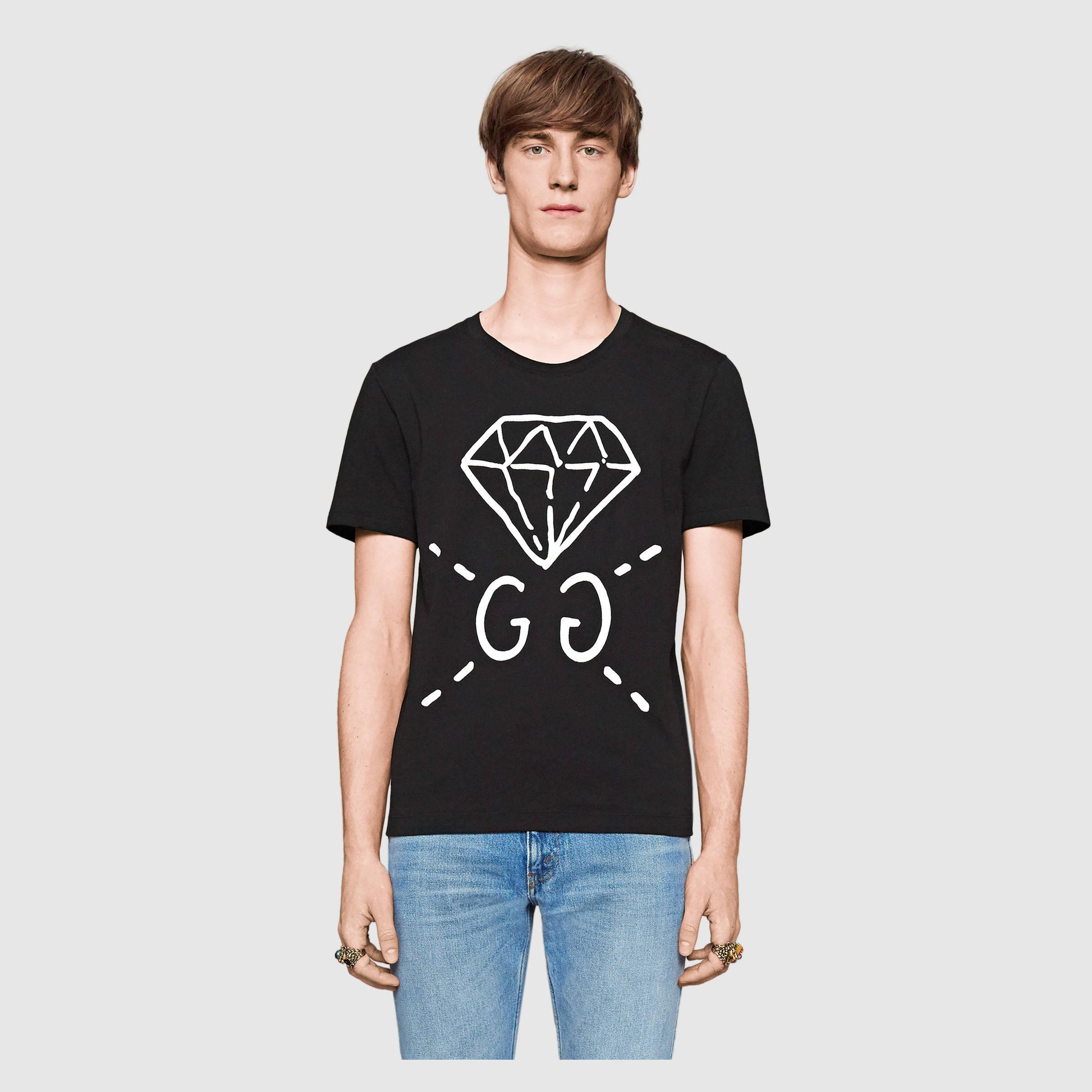 6b788fa13 Fake Black Gucci T Shirt