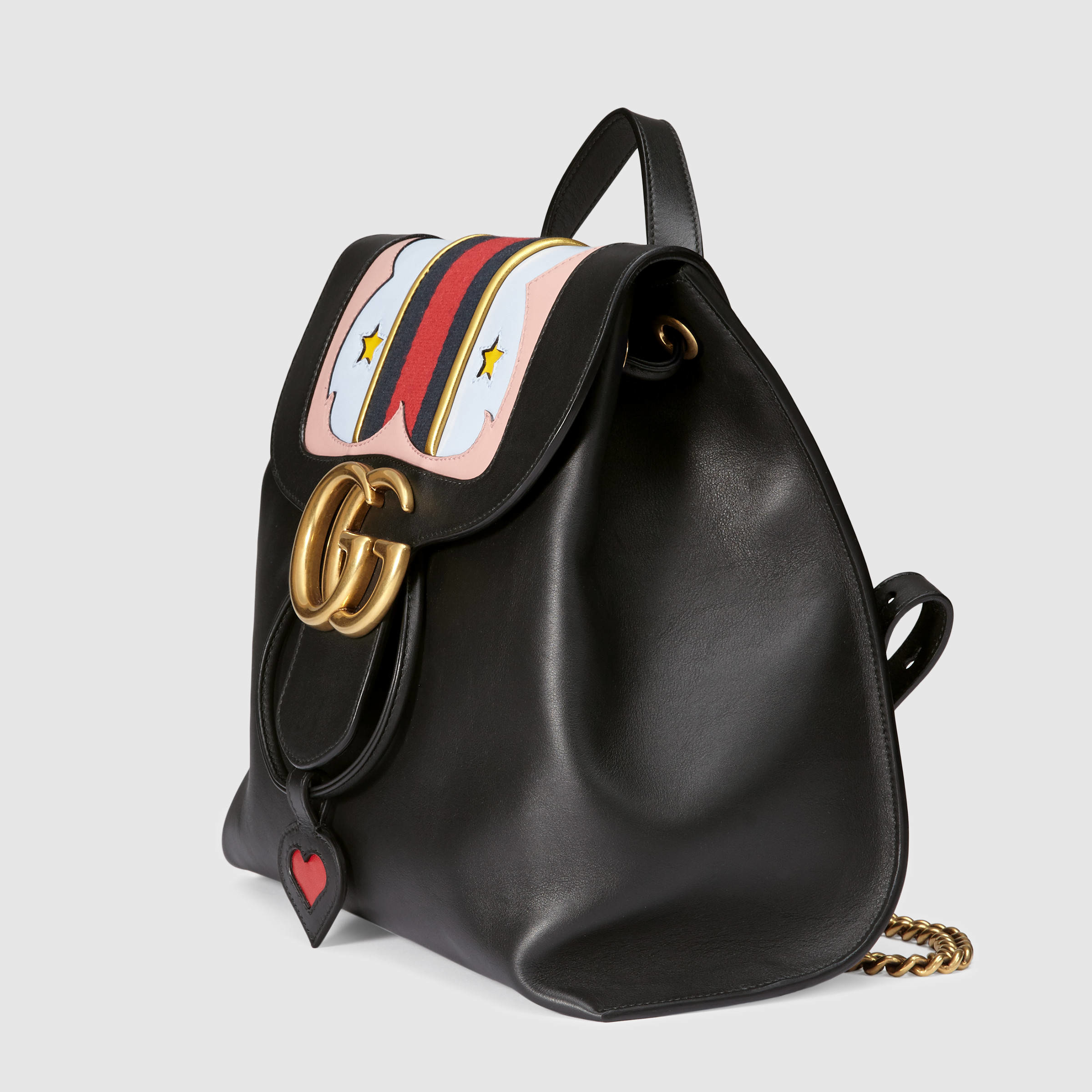 e520757e8c94 Gucci GG Marmont Leather Backpack in Black - Lyst