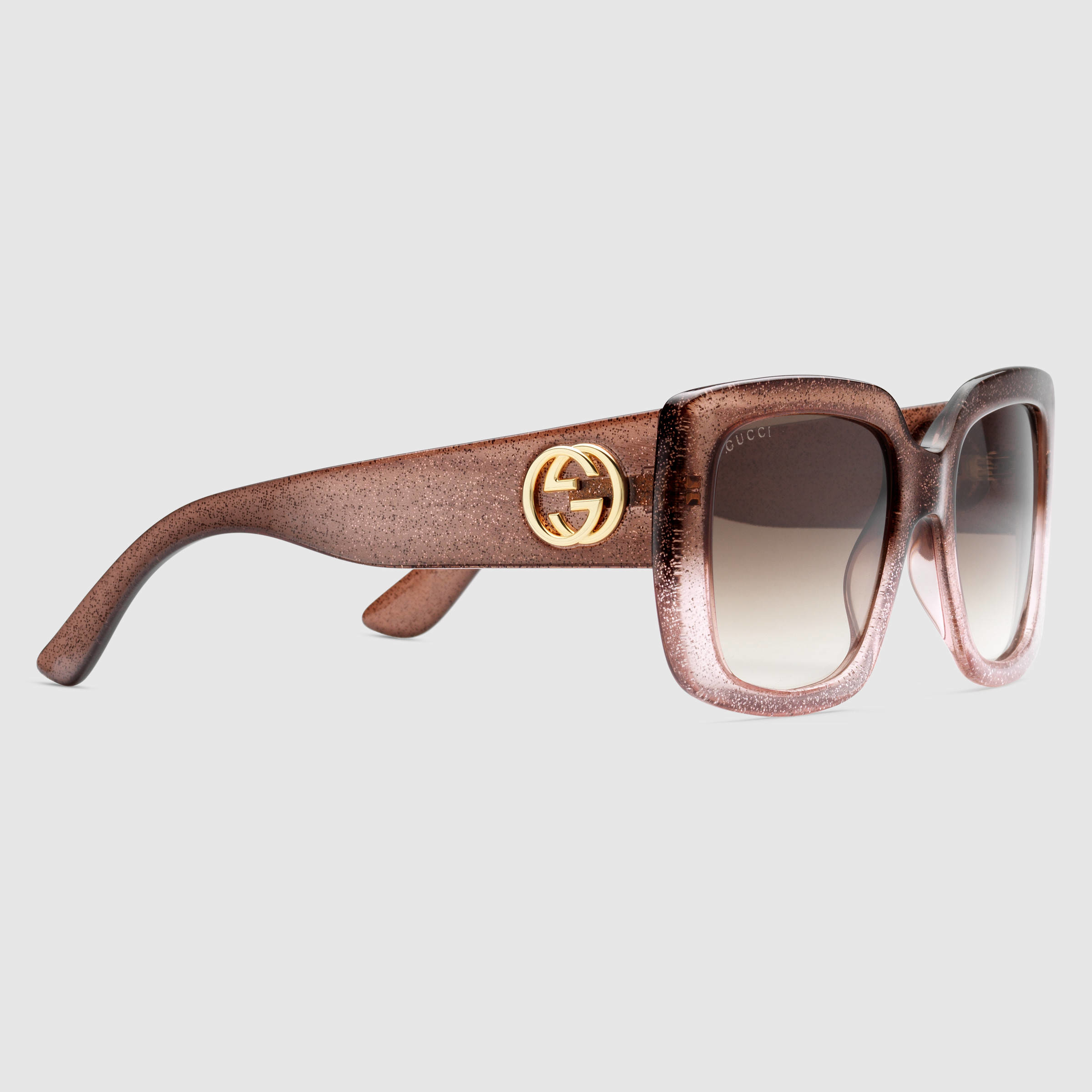 2081335fc98 Lyst - Gucci Square-frame Optyl Sunglasses in Pink