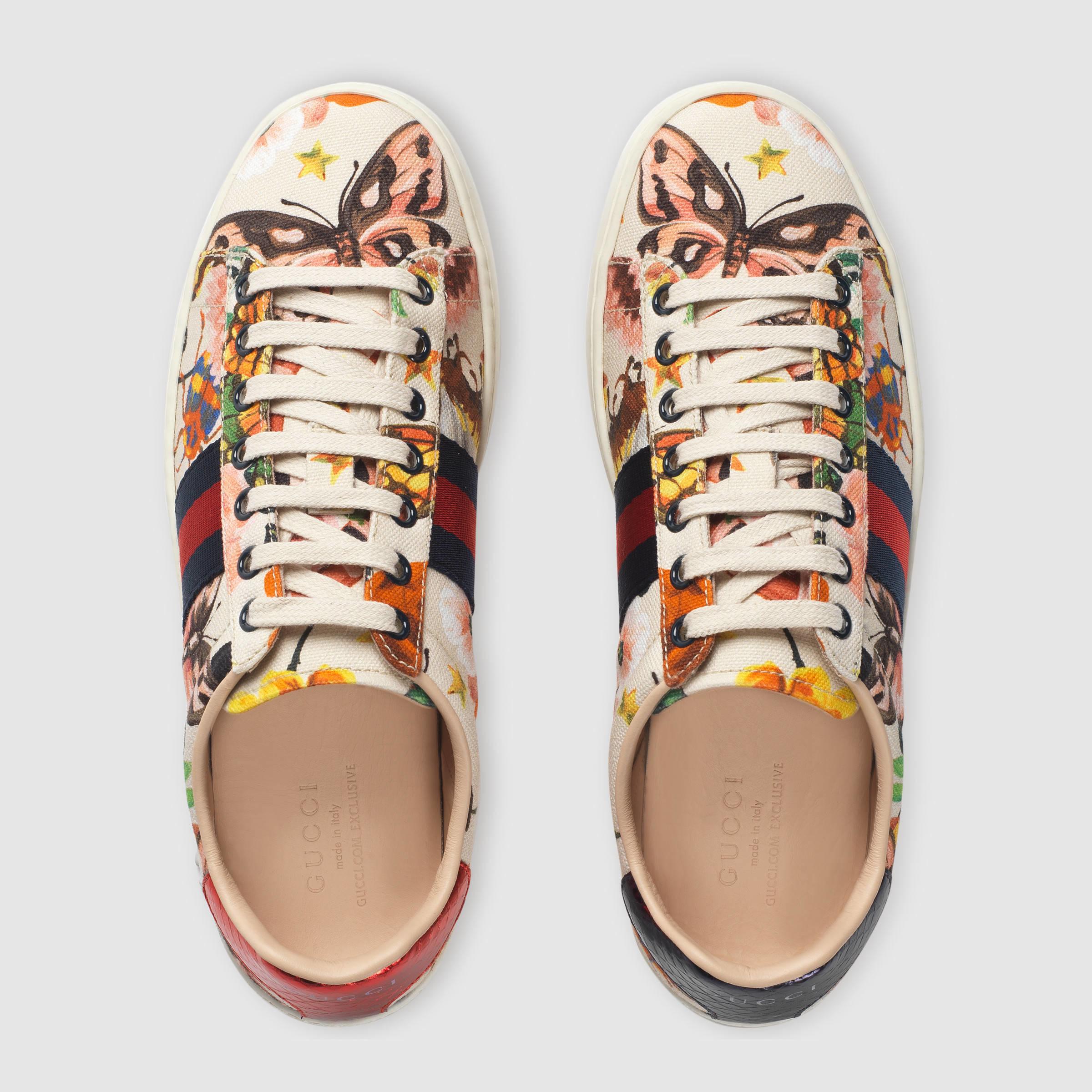 1aaaf8fb37fc Lyst - Gucci Garden Exclusive Ace Sneaker
