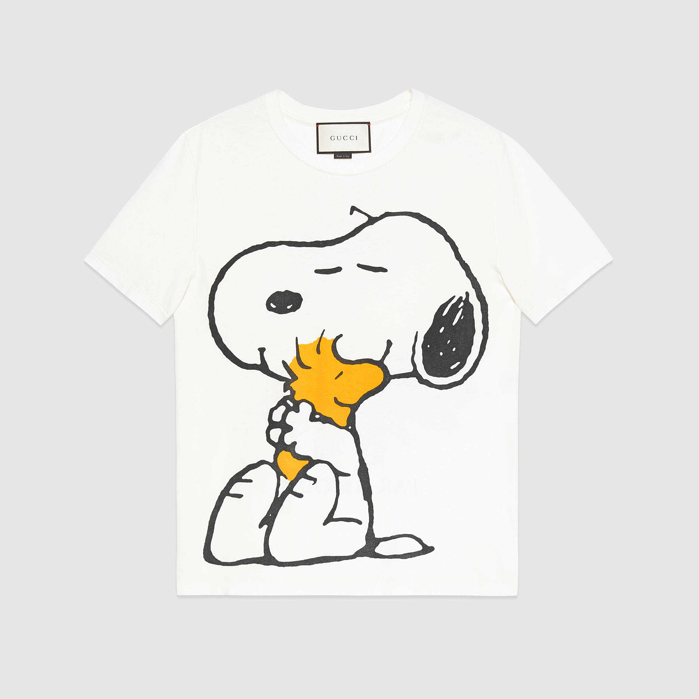 2972a1bd Gucci Washed T-shirt With Peanuts Print in White for Men - Lyst