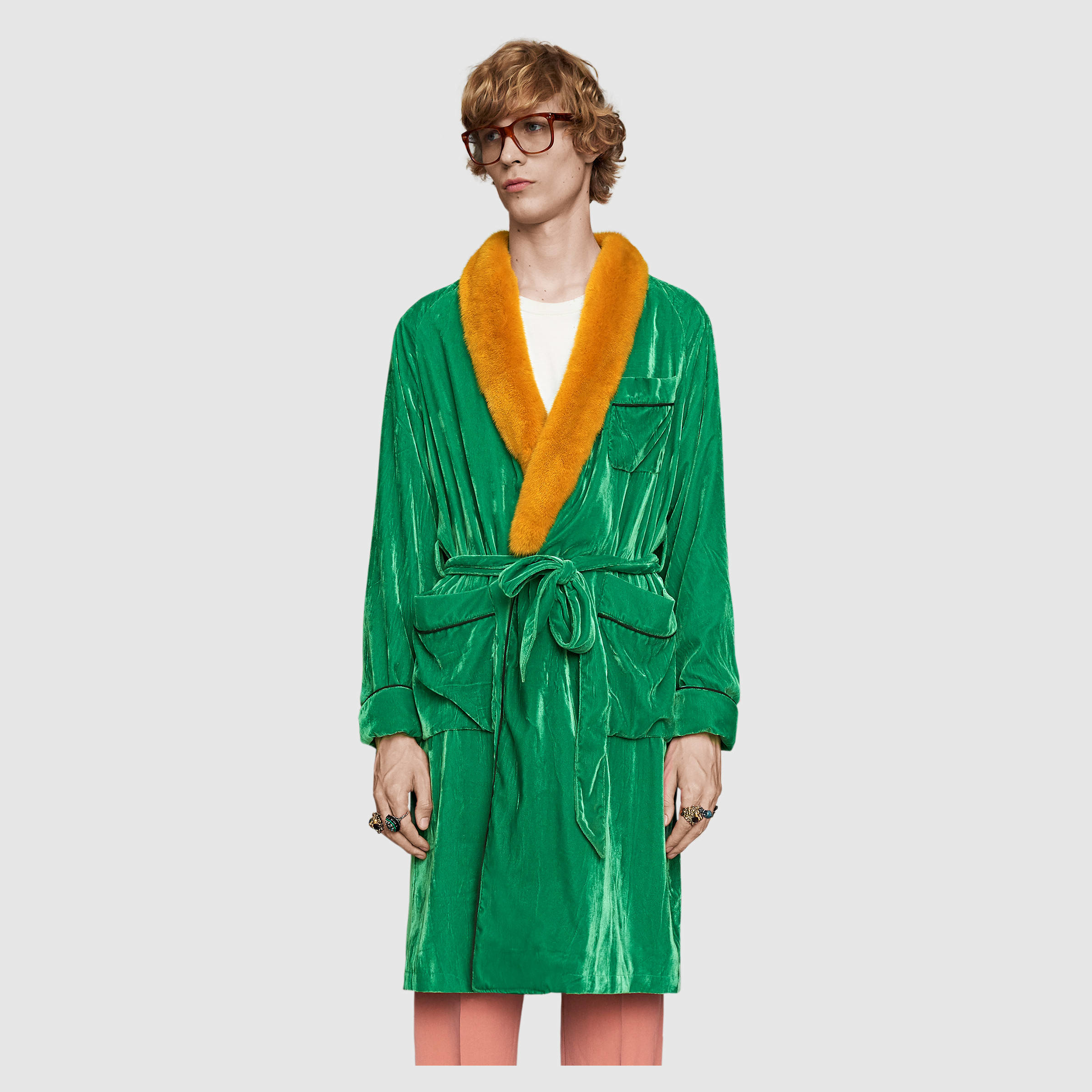 Men S Dressing Gowns: Gucci Embroidered Velvet Dressing Gown For Men