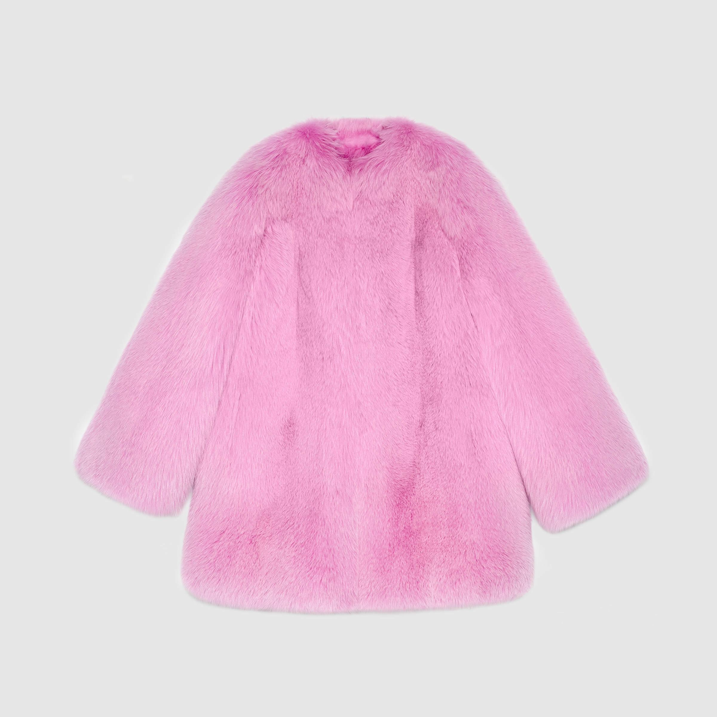 2db4a223af69 Lyst - Gucci Fox Fur Coat