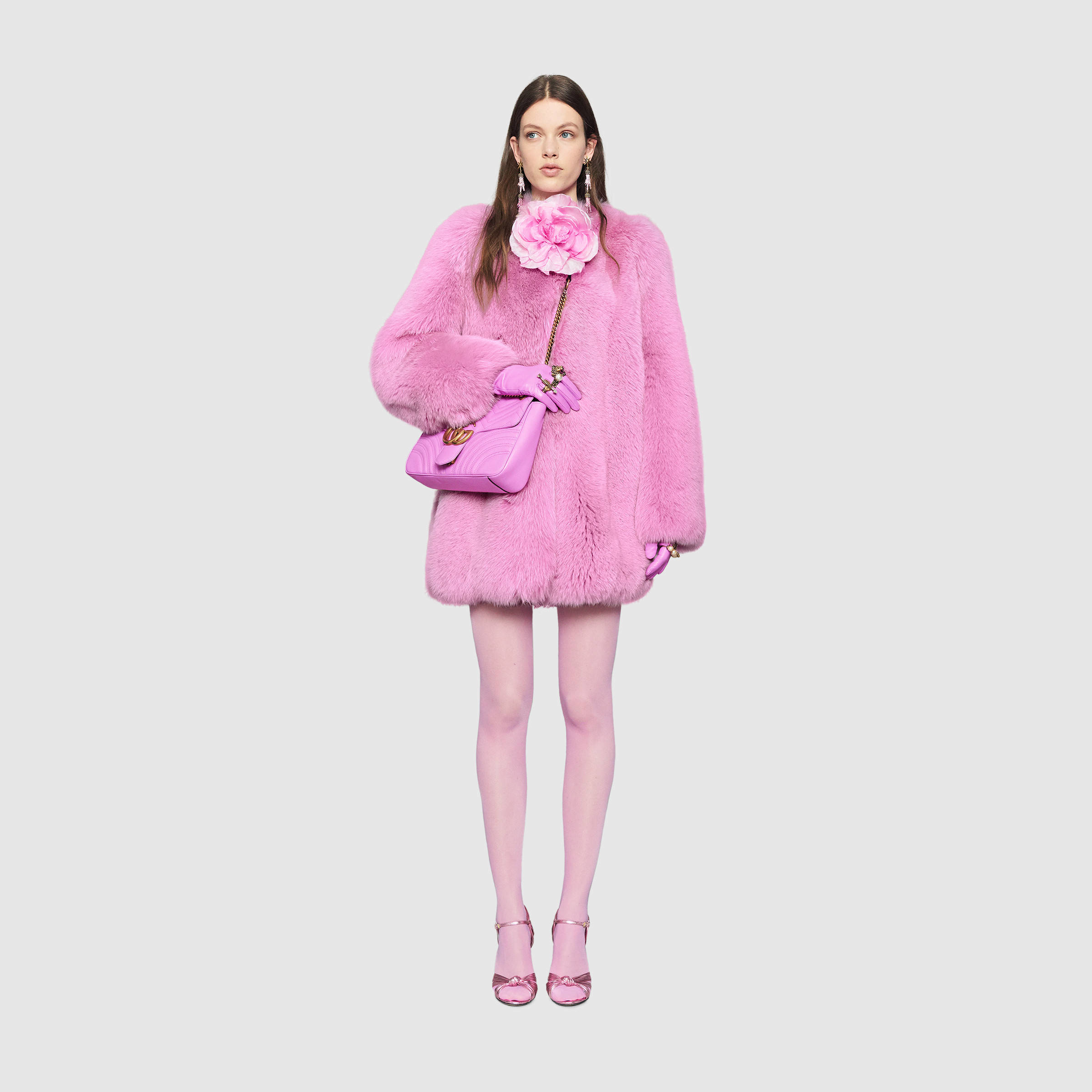 original newest collection look out for Fox Fur Coat