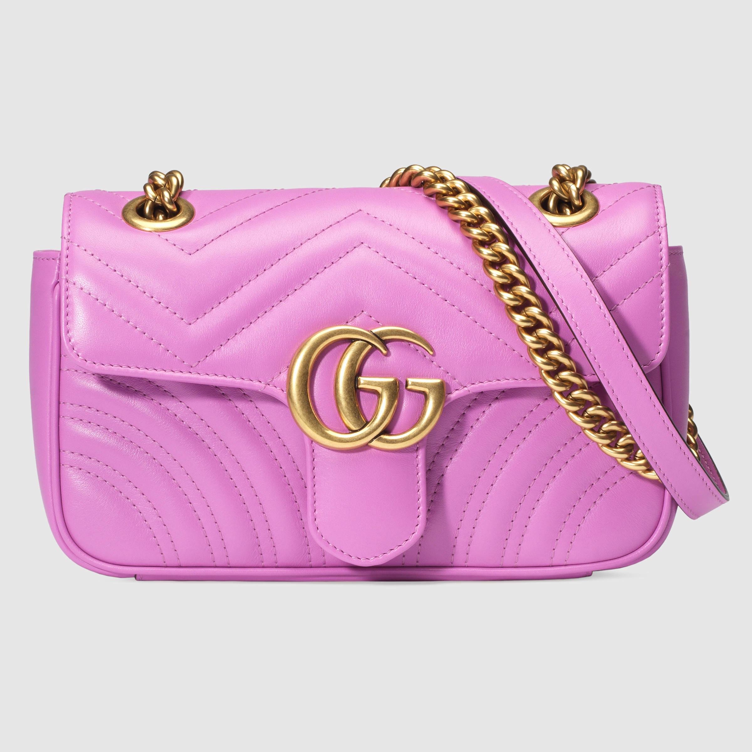 911acff39b8 Gucci - Multicolor GG Marmont Matelassé Leather Mini Shoulder Bag - Lyst
