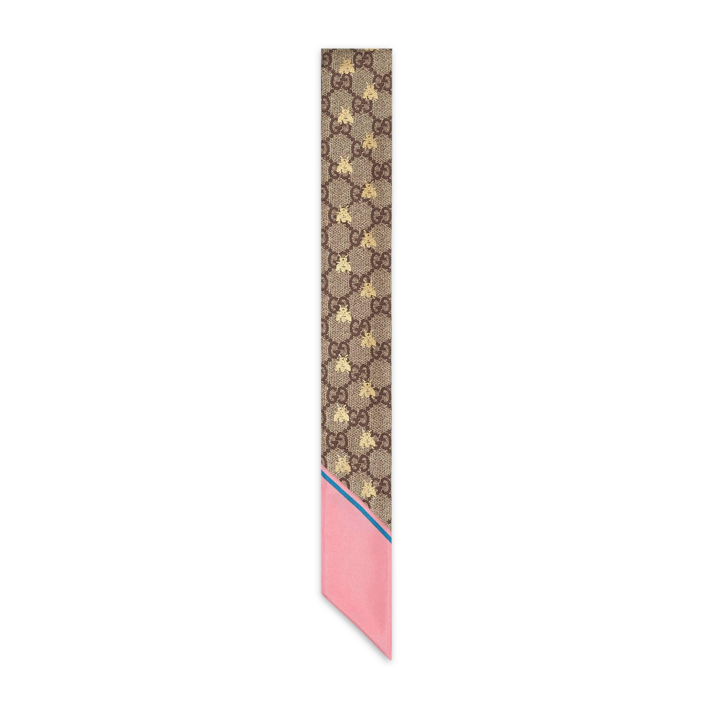 7708169a2 Lazo de Seda GG con Abejas Gucci de color Neutro - Lyst