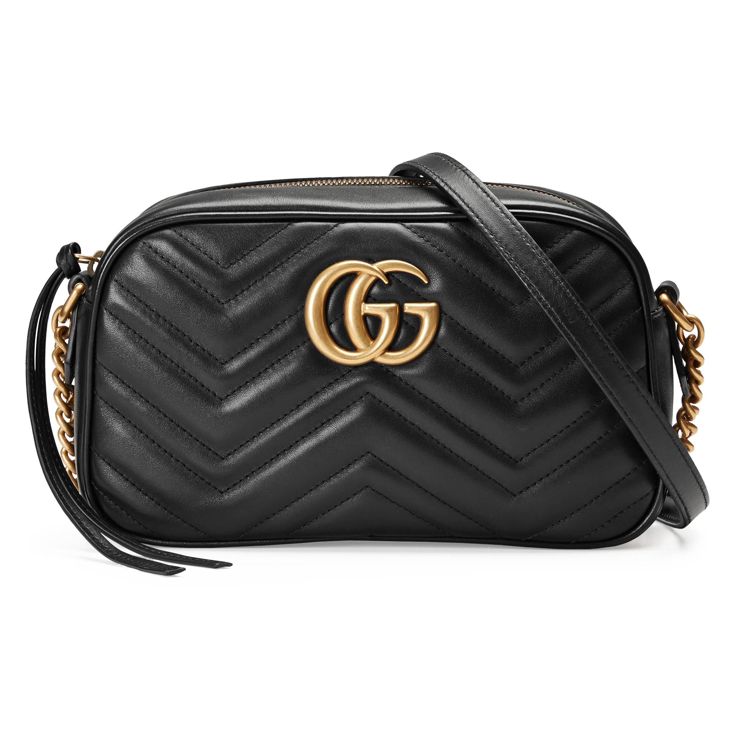 9d145e0149 Gucci. Sac à épaule petite taille à motif GG Marmont matelassé femme de  coloris noir
